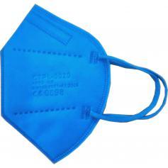 Mascherina FFP2 Imbustata Singolarmente Blu Elettrico Registrata CE