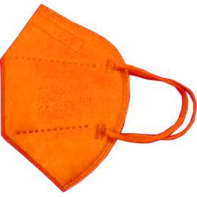 Mascherina FFP2 Imbustata Singolarmente Arancio Registrata CE