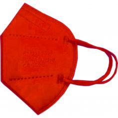 Mascherina FFP2 Imbustata Singolarmente Rosso Registrata CE