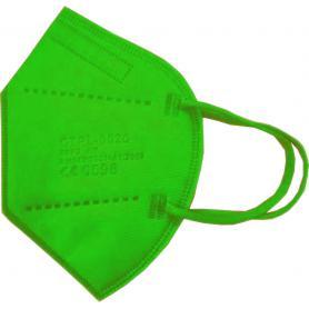 Mascherina FFP2 Imbustata Singolarmente Verde Chiaro Registrata CE